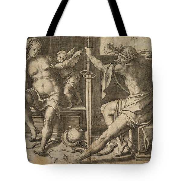 Mars Venus And Cupid Tote Bag