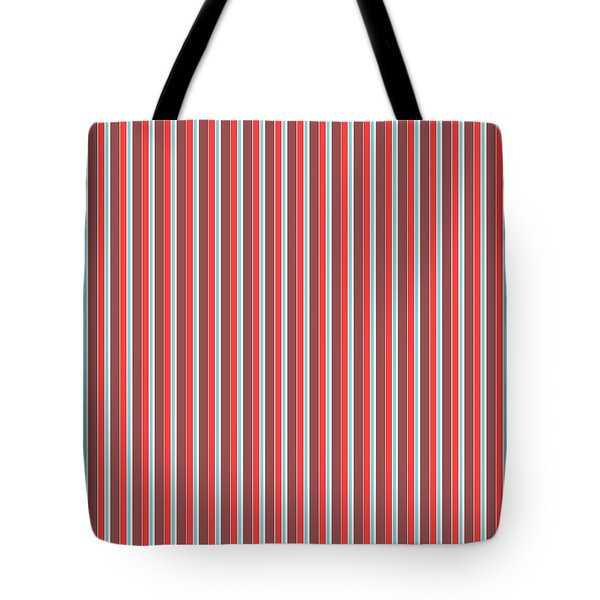 Marsala Stripe 2 Tote Bag by Linda Woods