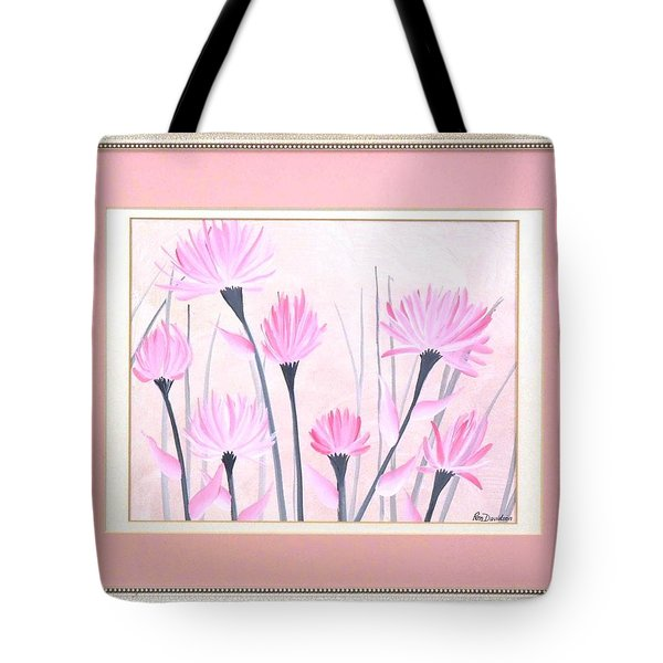 Marsh Flowers Tote Bag by Ron Davidson