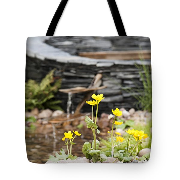 Marsh Marigolds Tote Bag by Anne Gilbert