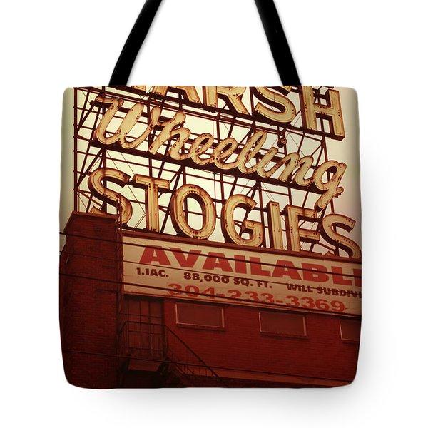 Marsh Stogies Sign Tote Bag
