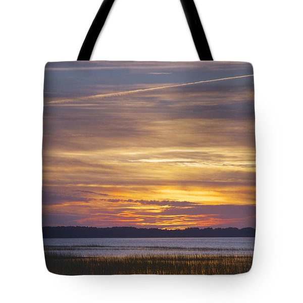 Marsh Sunset Tote Bag by Phill Doherty