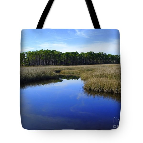 Marsh Water Creek Tote Bag by Lew Davis