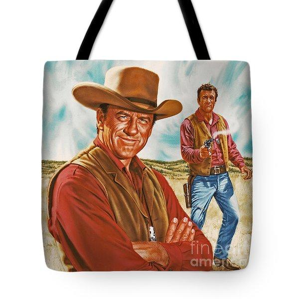 Marshall Mat Dillon Tote Bag by Dick Bobnick