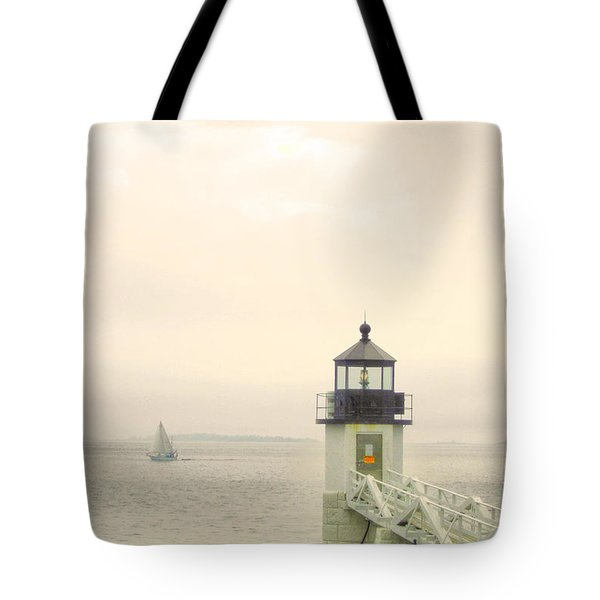 Marshall Point Lighthouse In Maine Tote Bag by Denyse Duhaime