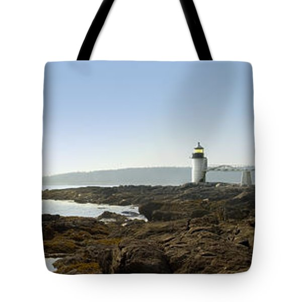 Marshall Point Lighthouse - Panoramic Tote Bag by Mike McGlothlen