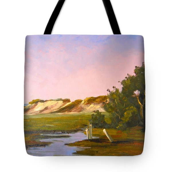 Marshlands Plymouth Landing Tote Bag by Betty Ann Morris
