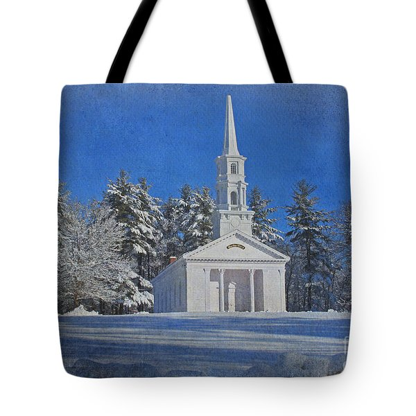 Martha Mary Chapel In Winter Tote Bag by Jayne Carney