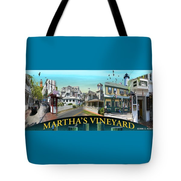 Martha's Vineyard Collage Tote Bag by Gerry Robins