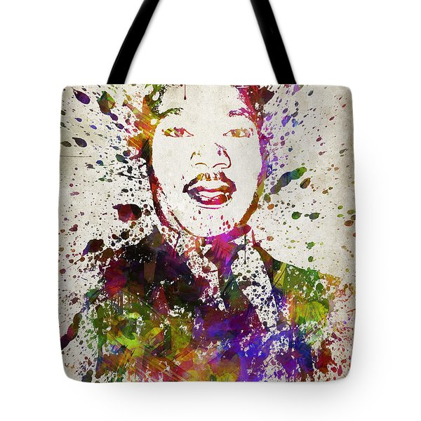 Martin Luther King Jr In Color Tote Bag