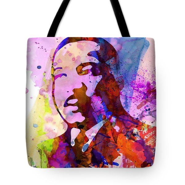Martin Luther King Jr Watercolor Tote Bag by Naxart Studio