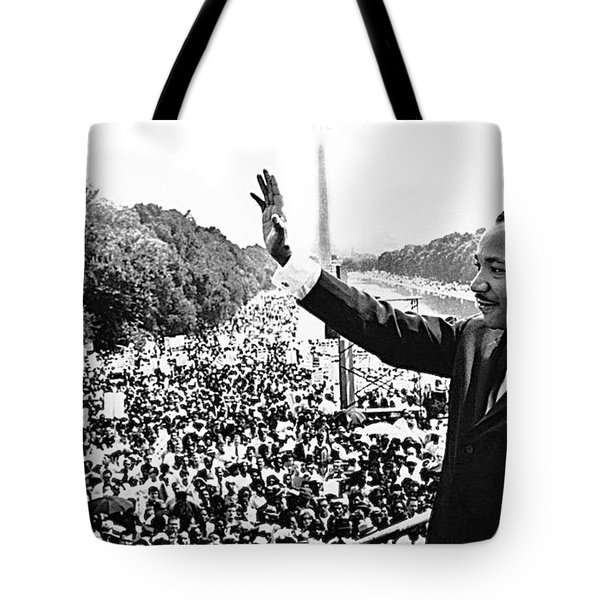 Martin Luther King The Great March On Washington Lincoln Memorial August 28 1963-2014 Tote Bag
