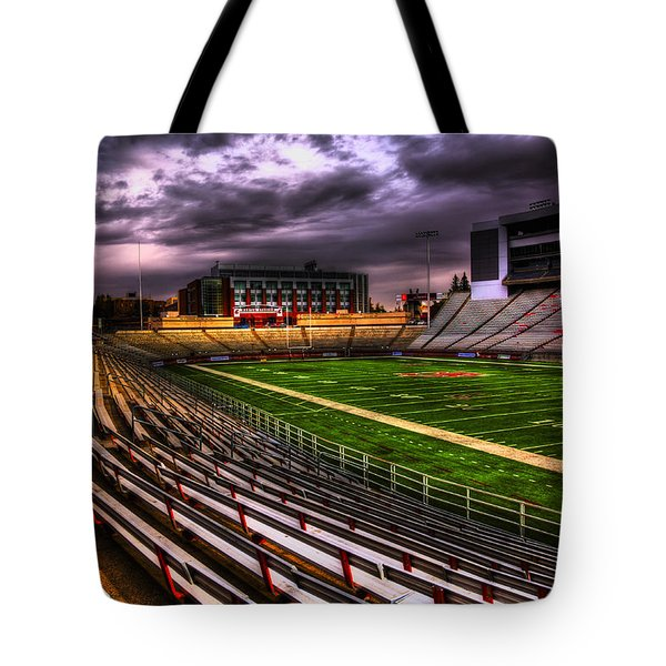 Martin Stadium - Home Of Wsu Football Tote Bag