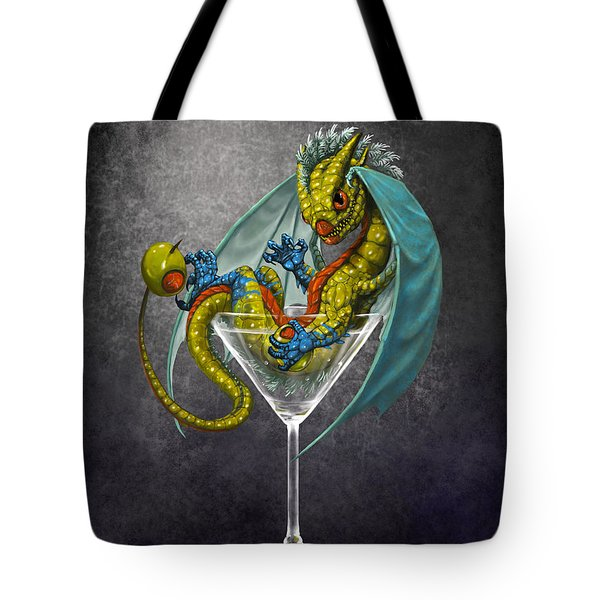 Martini Dragon Tote Bag