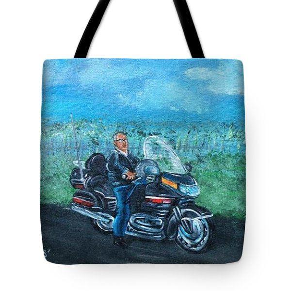 Tote Bag featuring the painting Marvins Ride by The GYPSY And DEBBIE