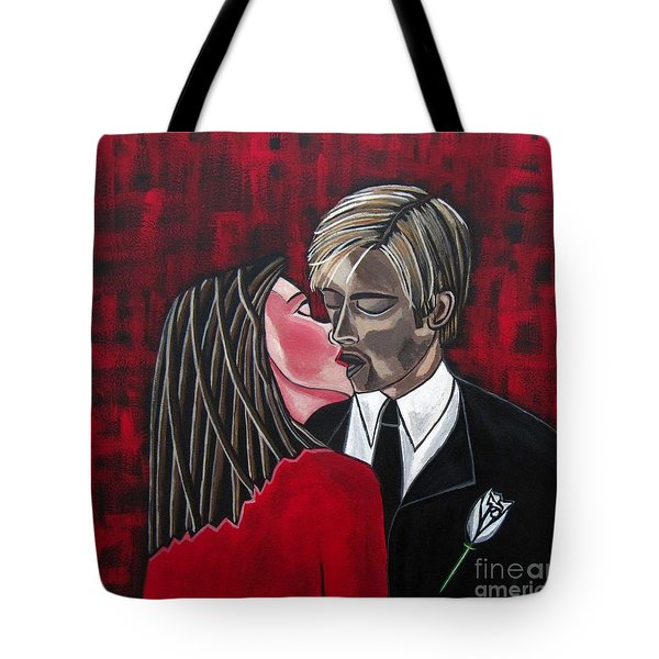 Mary And Jesus Day Two Tote Bag by Sandra Marie Adams