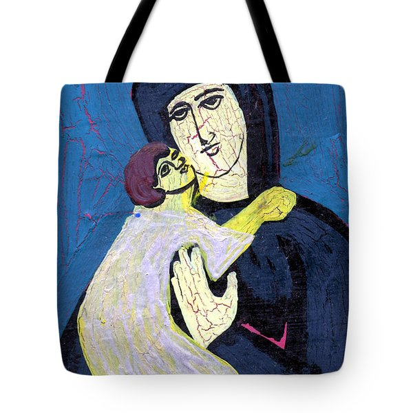 Mary And The Baby Jesus Tote Bag by Genevieve Esson