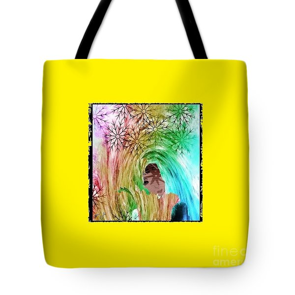 Mary In The Field Tote Bag