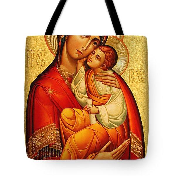 Mary The God Bearer Tote Bag