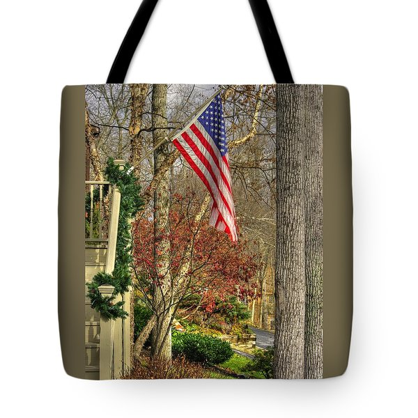 Maryland Country Roads - Flying The Colors 1a Tote Bag