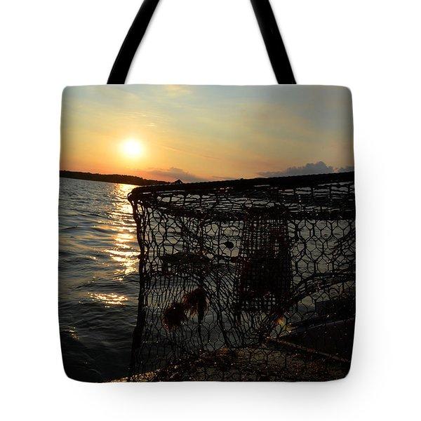Maryland Crabber's Horizon Tote Bag