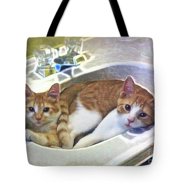 Mary's Cats Tote Bag by Joan  Minchak