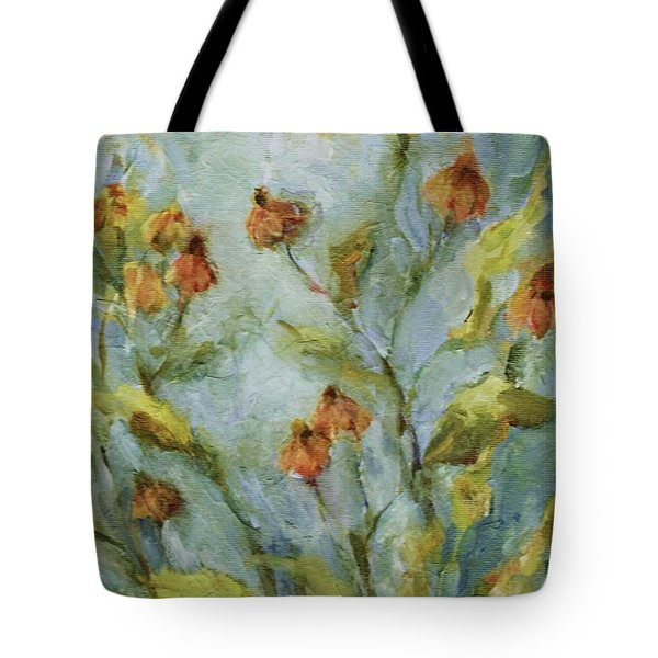 Tote Bag featuring the painting Mary's Garden by Mary Wolf