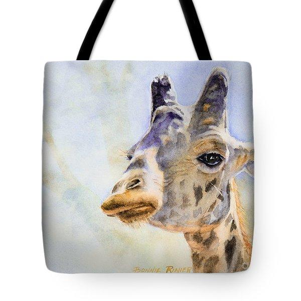 Masai Giraffe Tote Bag by Bonnie Rinier