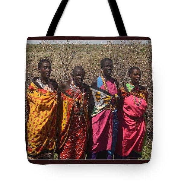 Tote Bag featuring the photograph Masai Women Chorus by Tom Wurl