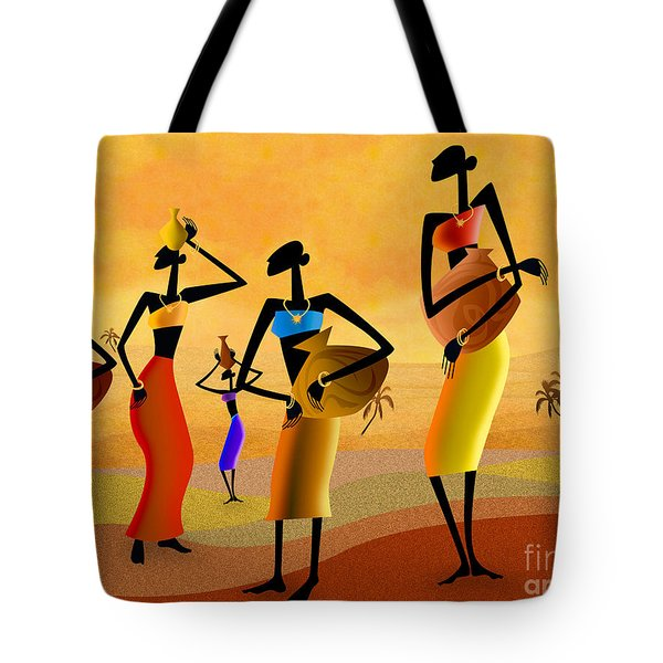 Masai Women Quest For Water Tote Bag
