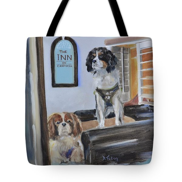 Mascots Of The Inn Tote Bag by Donna Tuten