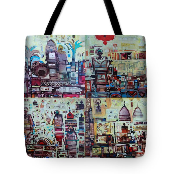 Maseed Maseed 3 Tote Bag by Mohamed Fadul