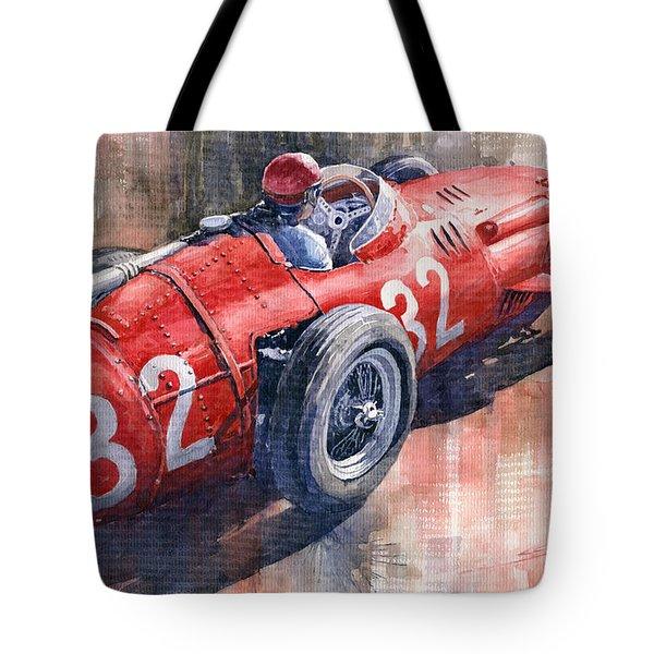 Maserati 250f J M Fangio Monaco Gp 1957 Tote Bag