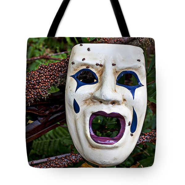 Mask And Ladybugs Tote Bag