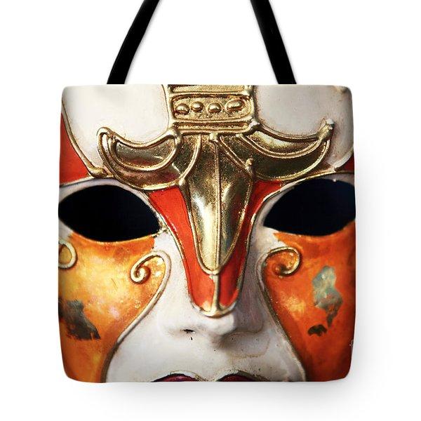 Mask Tote Bag by John Rizzuto