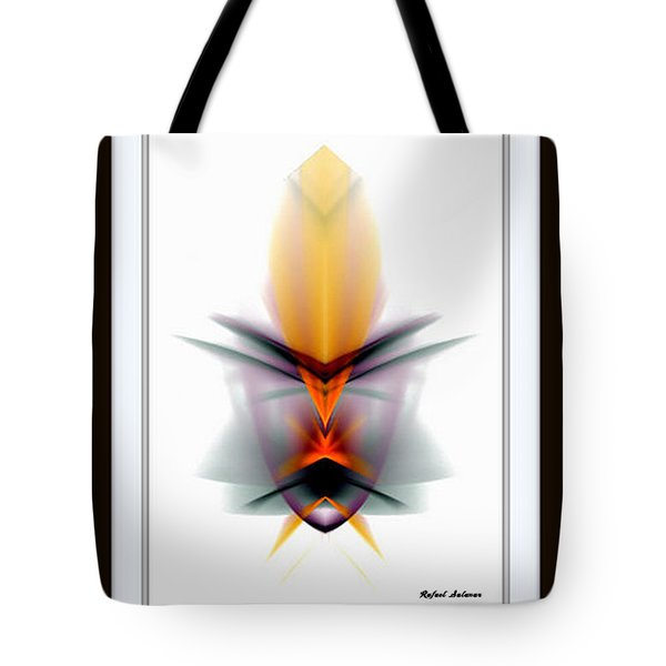 Tote Bag featuring the mixed media Mask by Rafael Salazar