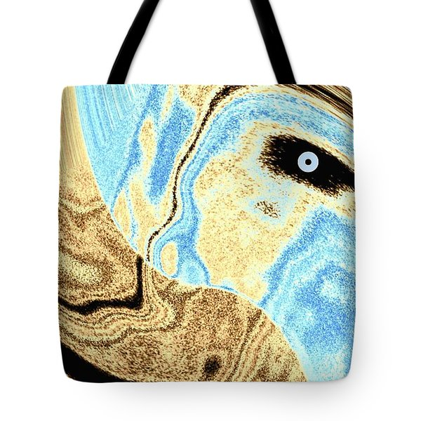 Masked- Man Abstract Tote Bag