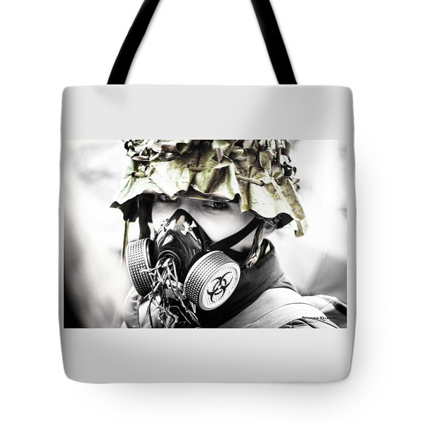 Masked War Tote Bag