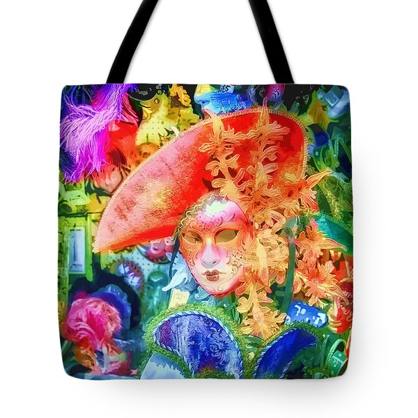 Tote Bag featuring the photograph Masks Of Venice 22 by Jack Torcello