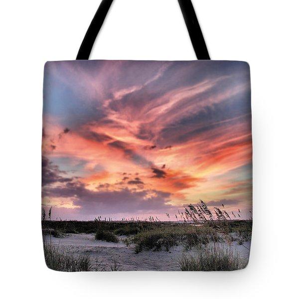 Masonboro Inlet September Sunset Tote Bag