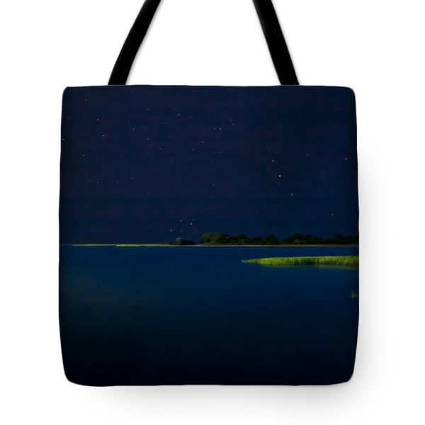 Masonboro Sound At Night Tote Bag