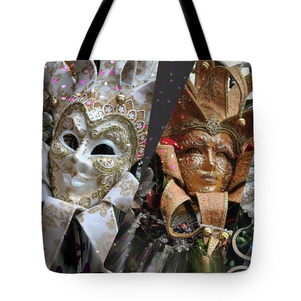 Masquerade Craziness Tote Bag by Amanda Eberly-Kudamik