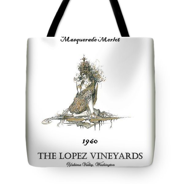 Masquerade Merlot Tote Bag by Julio Lopez
