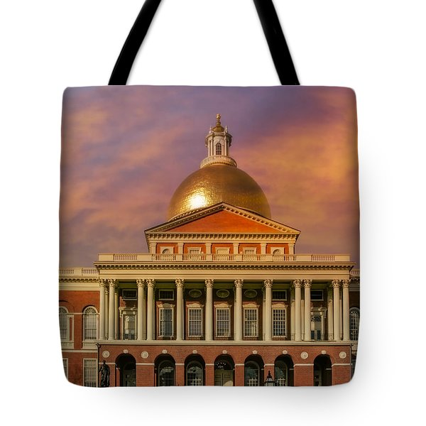 Massachusetts State House Tote Bag