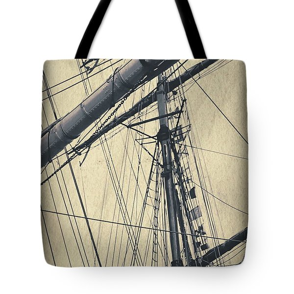 Mast And Rigging Postcard Tote Bag