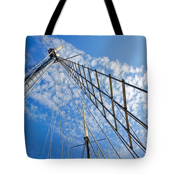 Masted Sky Tote Bag by Keith Armstrong