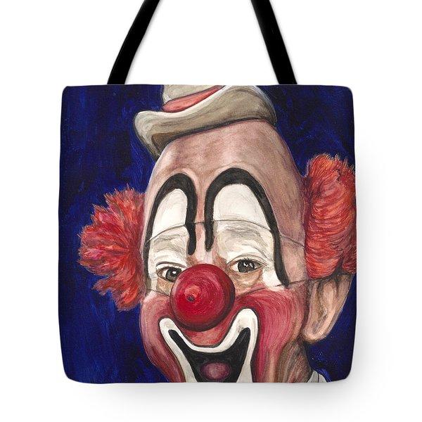 Watercolor Clown #3 Lou Jacobs Tote Bag