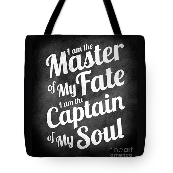 Master Of My Fate - Chalkboard Style Tote Bag