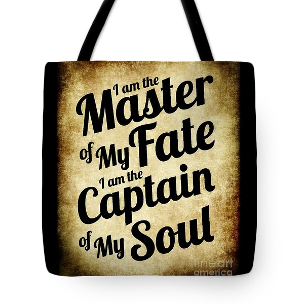 Master Of My Fate - Old Parchment Style Tote Bag