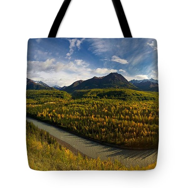 Mat-su Bend 2 Tote Bag by Ed Boudreau